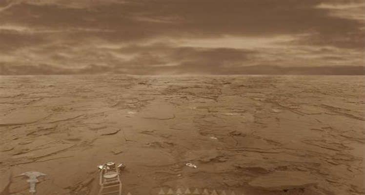 Imagen del interior de Venus por la nave Venera 7