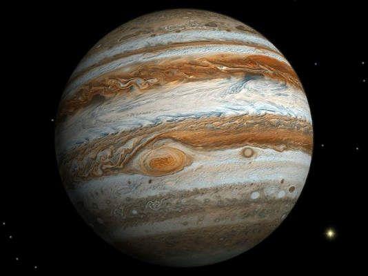 Los anillos de Júpiter se pueden ver desde la Tierra con grandes telescópios