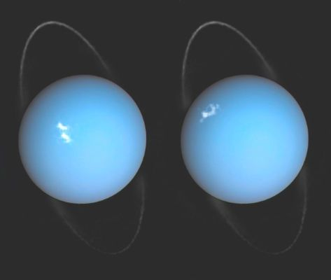 Urano está torcido y los polos miran al Sol