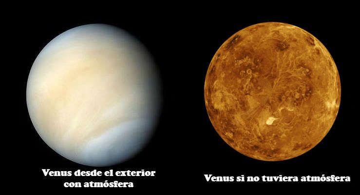 La atmósfera de Venus es opaca