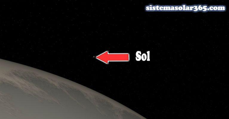 Desde el planeta Saturno, vemos el Sol así de lejos.