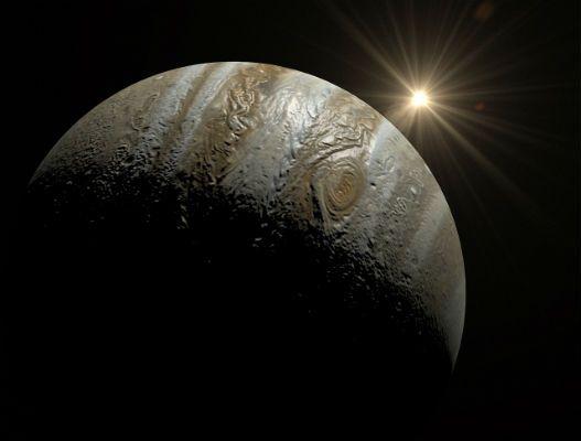 Vistas del Sol desde el planeta Júpiter