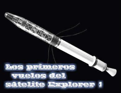 El satélite Explorer 1 en órbita