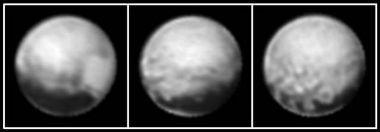 Primeras imágenes del planeta enano Plutón a través de la New Horizons
