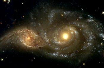 La colisión de galaxias