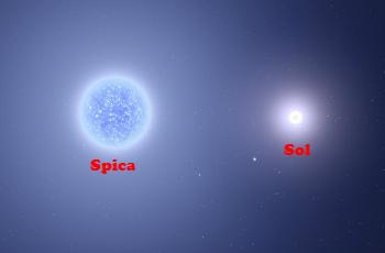 Spica es una gigante de 11 soles y está 260 años luz