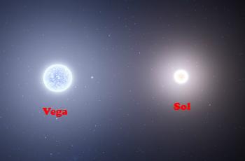 La estrella Vega es 2,1 más grande que el Sol. Son estrellas subgigantes