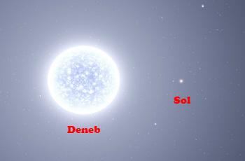 Una supergigante de 15 soles, Deneb