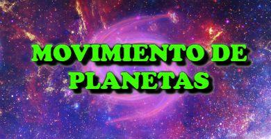 el Movimiento de planetas en el sistema solar