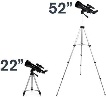 Altura del telescopio astronómico Celestron 22 pulgadas y 52