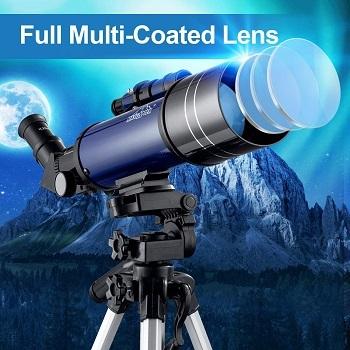 Filtros lunares para telescopio astronómico
