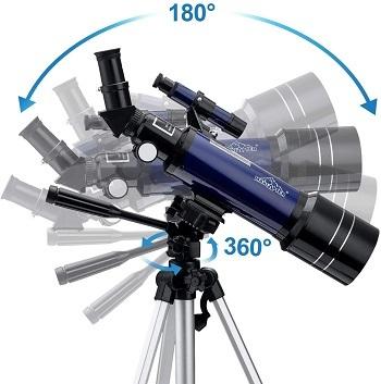 Rotativo 180º y 360º telescopio astronómico mejor