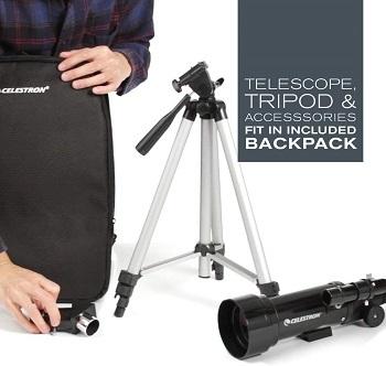 Trípode de fácil instalación telescopio celestron