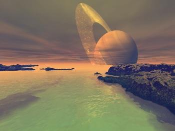 lagos y ríos de Titán